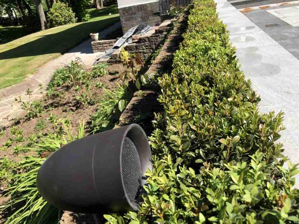 modernised home Sonance Garden speakers