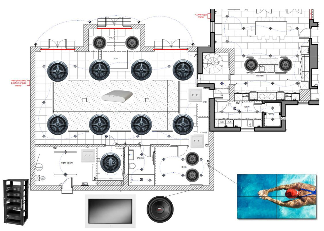 state-of-the-art upgrade speaker layout for swimming pool extension