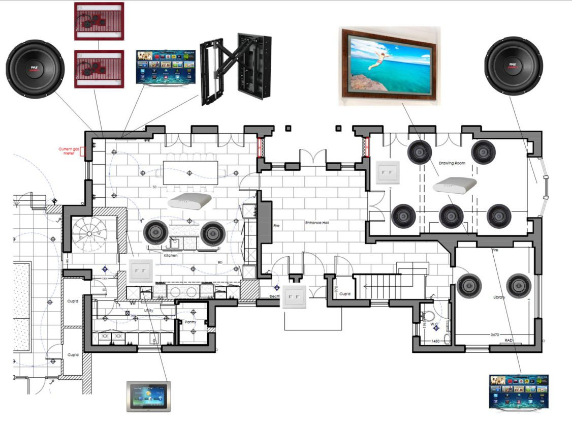 state-of-the-art upgrade main house speaker system