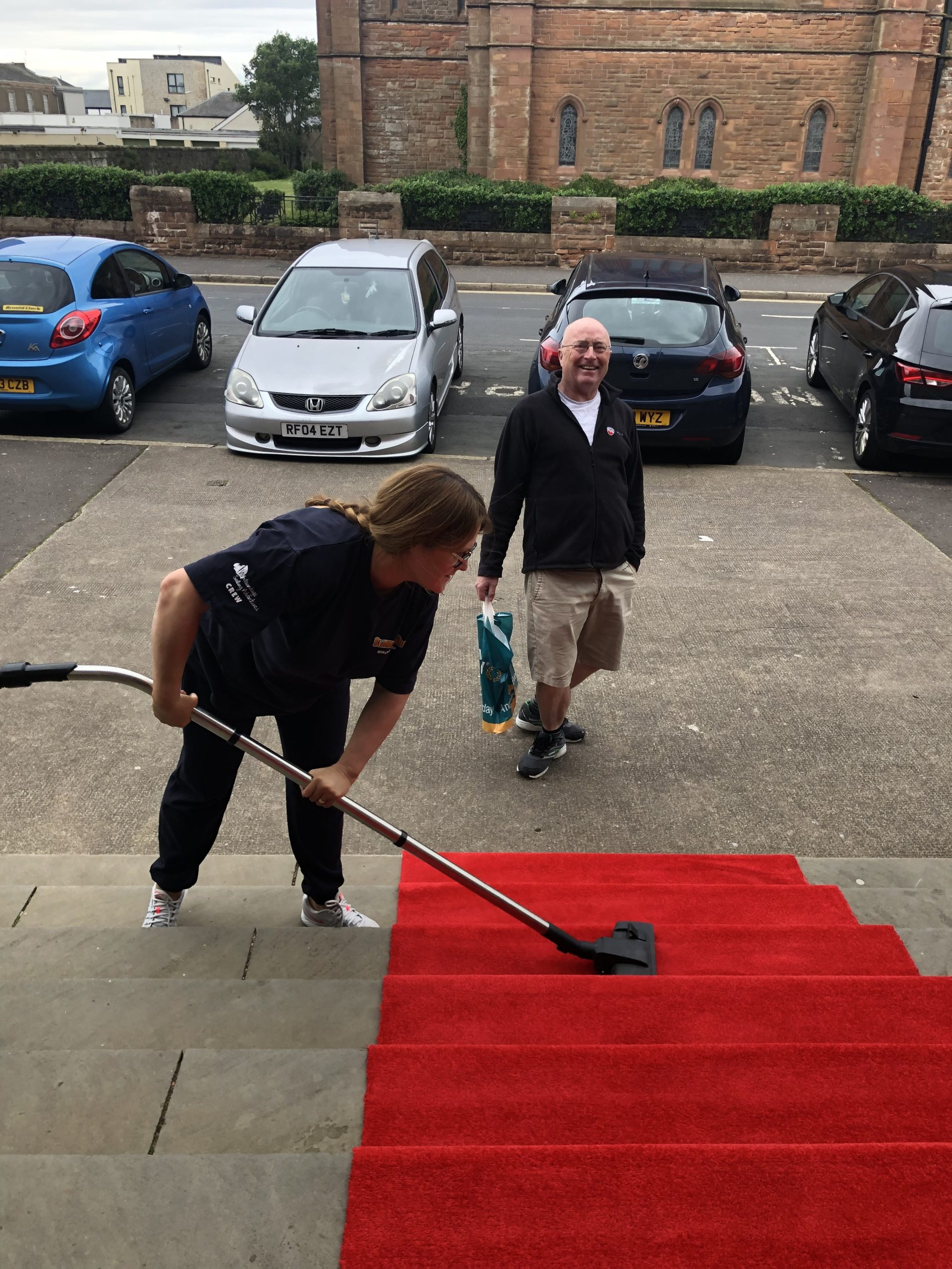 ayrshire schools kids awards red carpet hoovering
