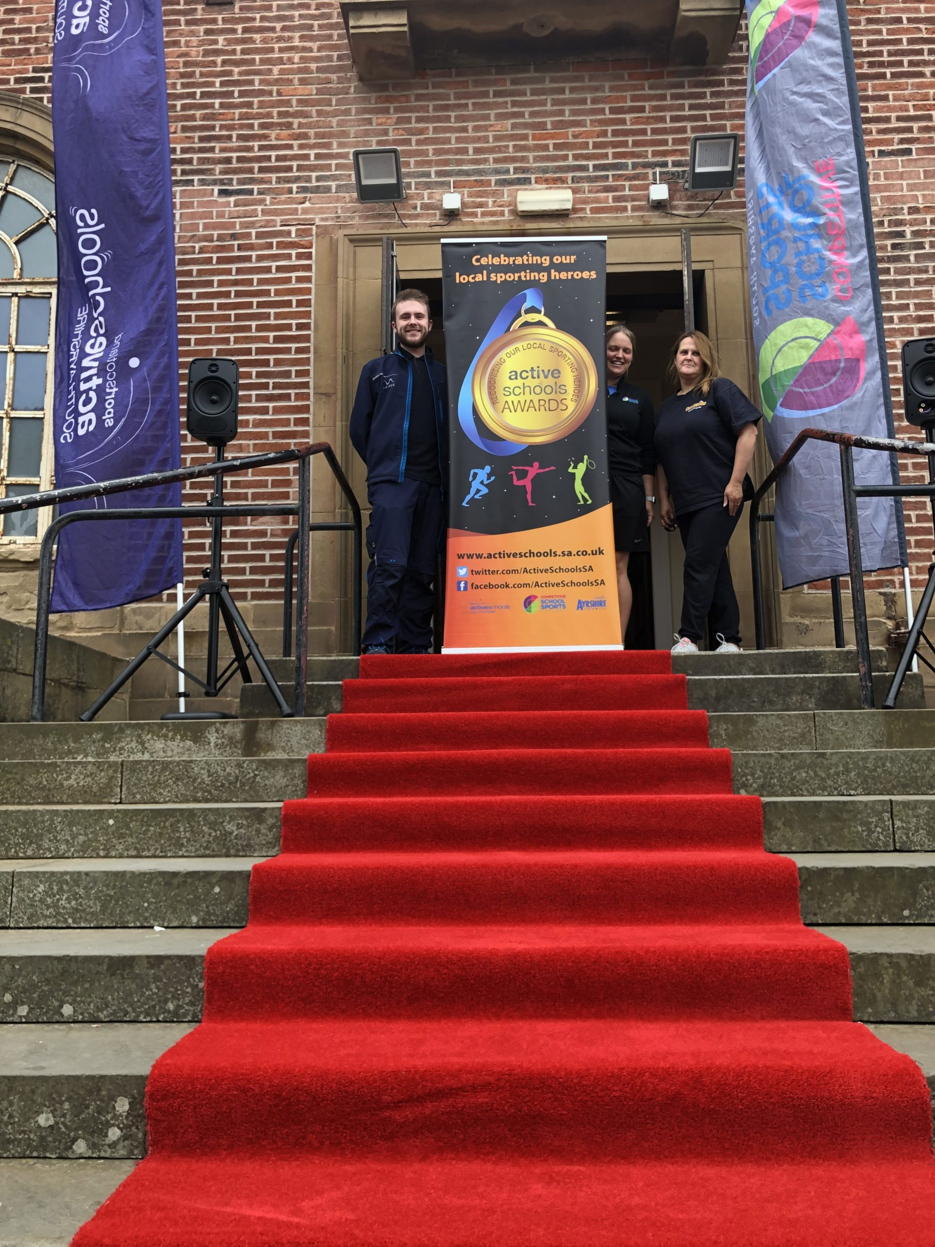 ayrshire active schools kids awards the red carpet
