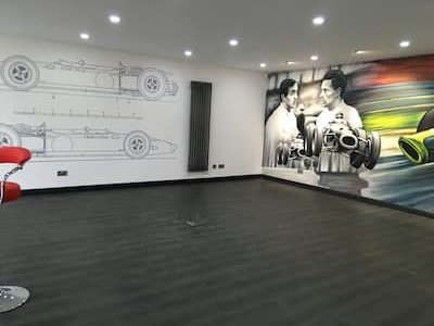 the racing space