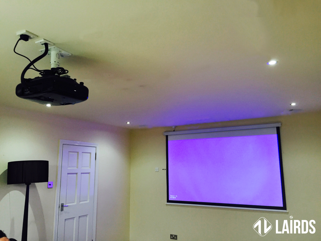 The Projector Installation in all its glory